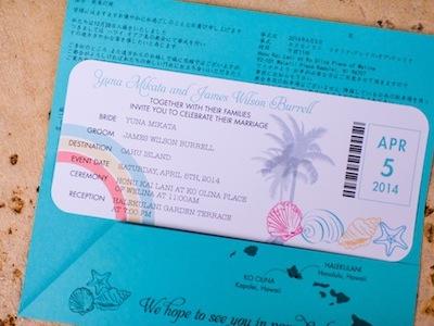 オリジナルデザインの招待状