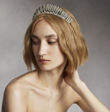 Crystal feathered tiara